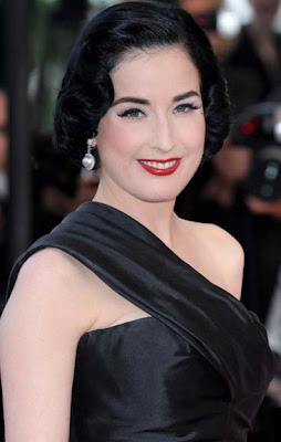Dita Von Teese Dangling Pearl Earrings
