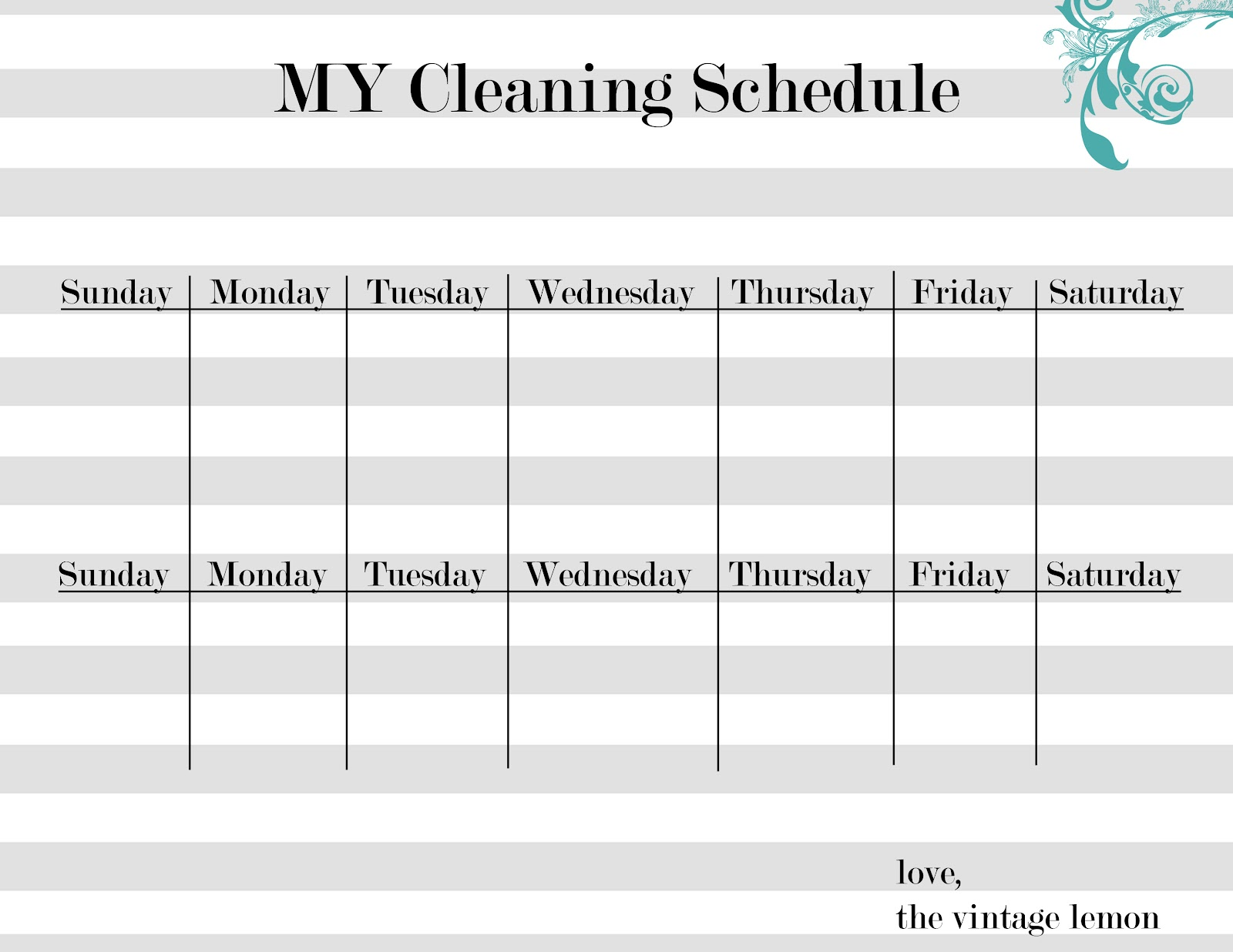 Cleaning Schedules Restaurant And Google On Pinterest Sample Weekly
