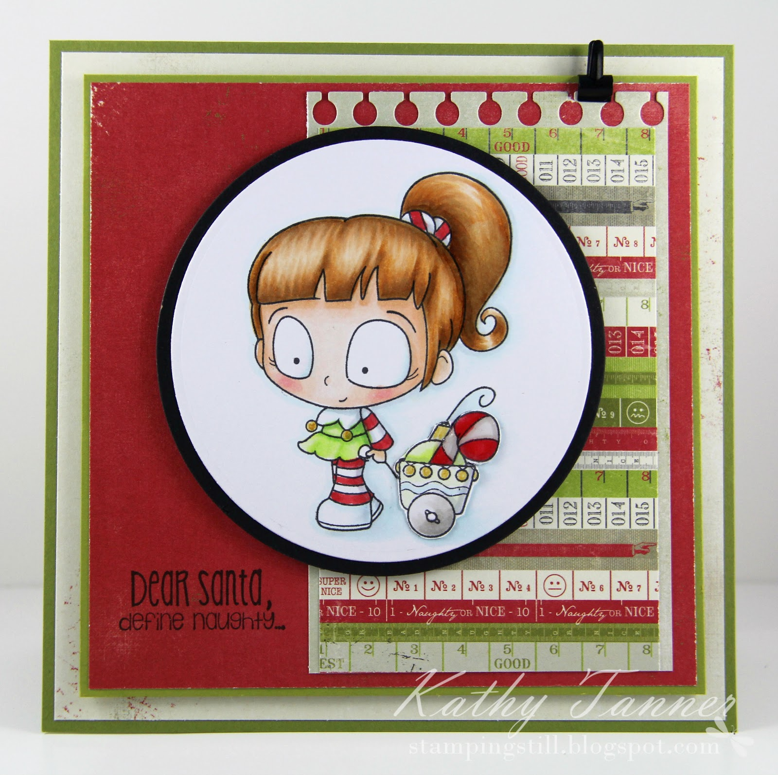 CC Designs, Little elf, snarky sentiments, christmas
