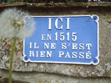 ici en 1515 il ne s'est rien passé
