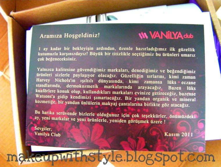 vanilya club kasım kutusu
