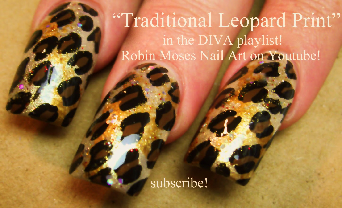 Nail Art By Robin Moses Traditional Leopard Print Nail Art