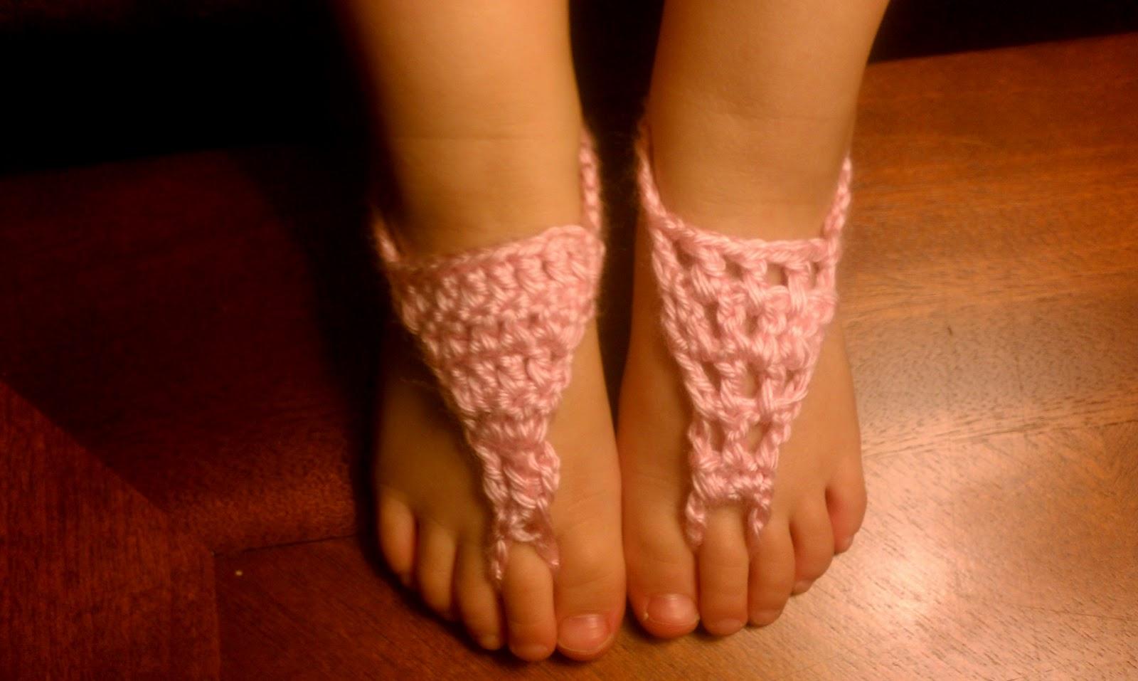 FREE CROCHET BARE FOOT SANDAL PATTERN - Crochet and Knitting Patterns