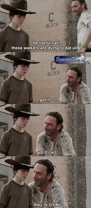 Walking Dead movie humor