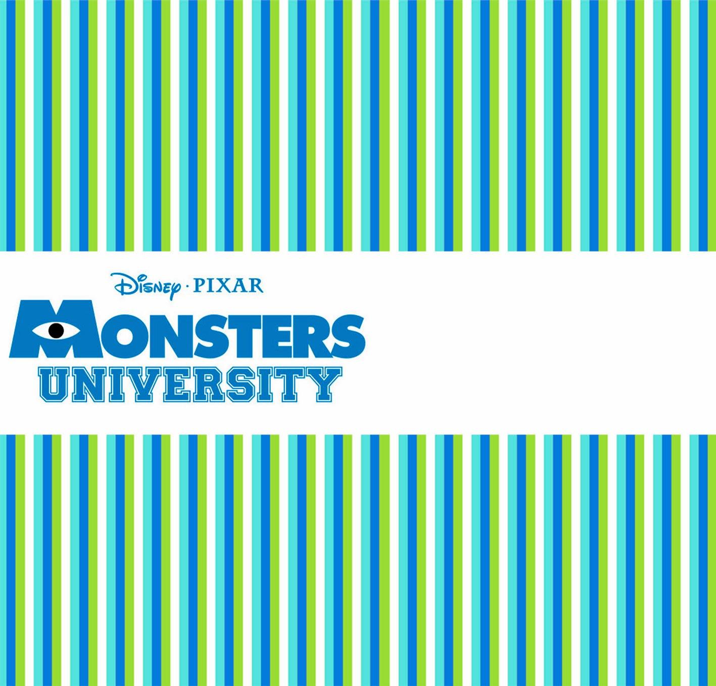 Tarjeta o Invitación de Monster University.