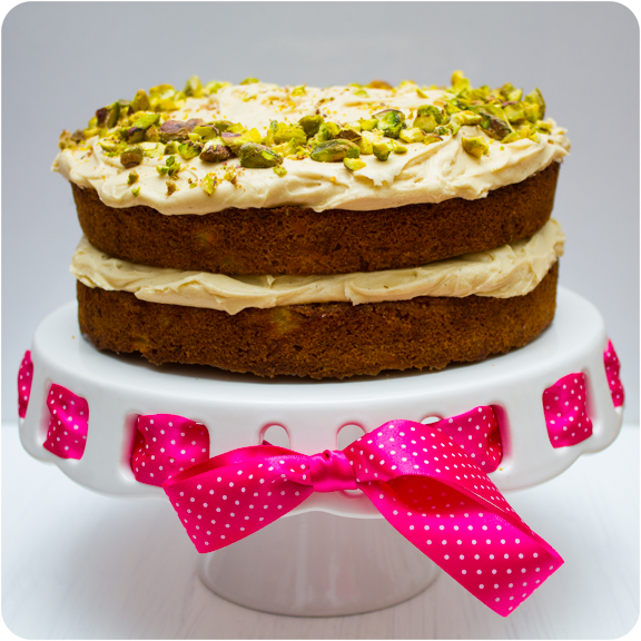 Spiced Carrot Cake With Vanilla Bean Frosting