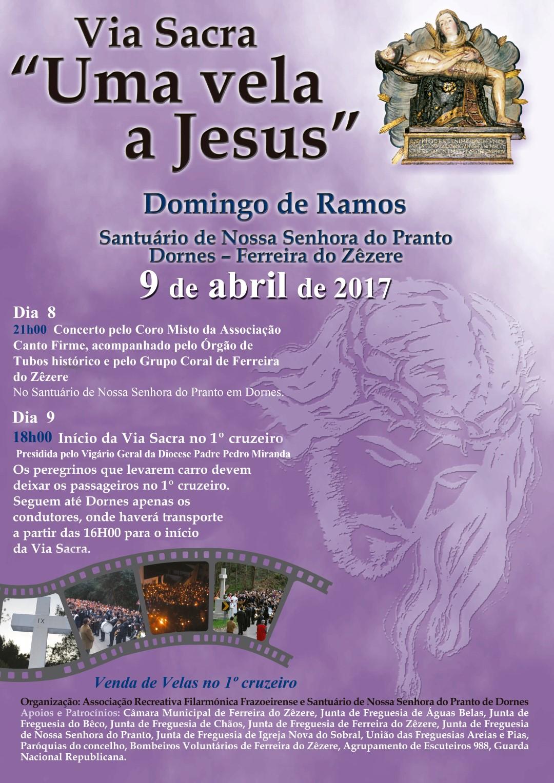 """Via Sacra """"Uma vela a Jesus"""" - Domingo de Ramos"""