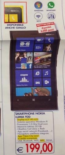 Da esselunga un primo anticipo delle offerte natalizia su uno smartphone windows phone 8 dall'ottima resa multimediale