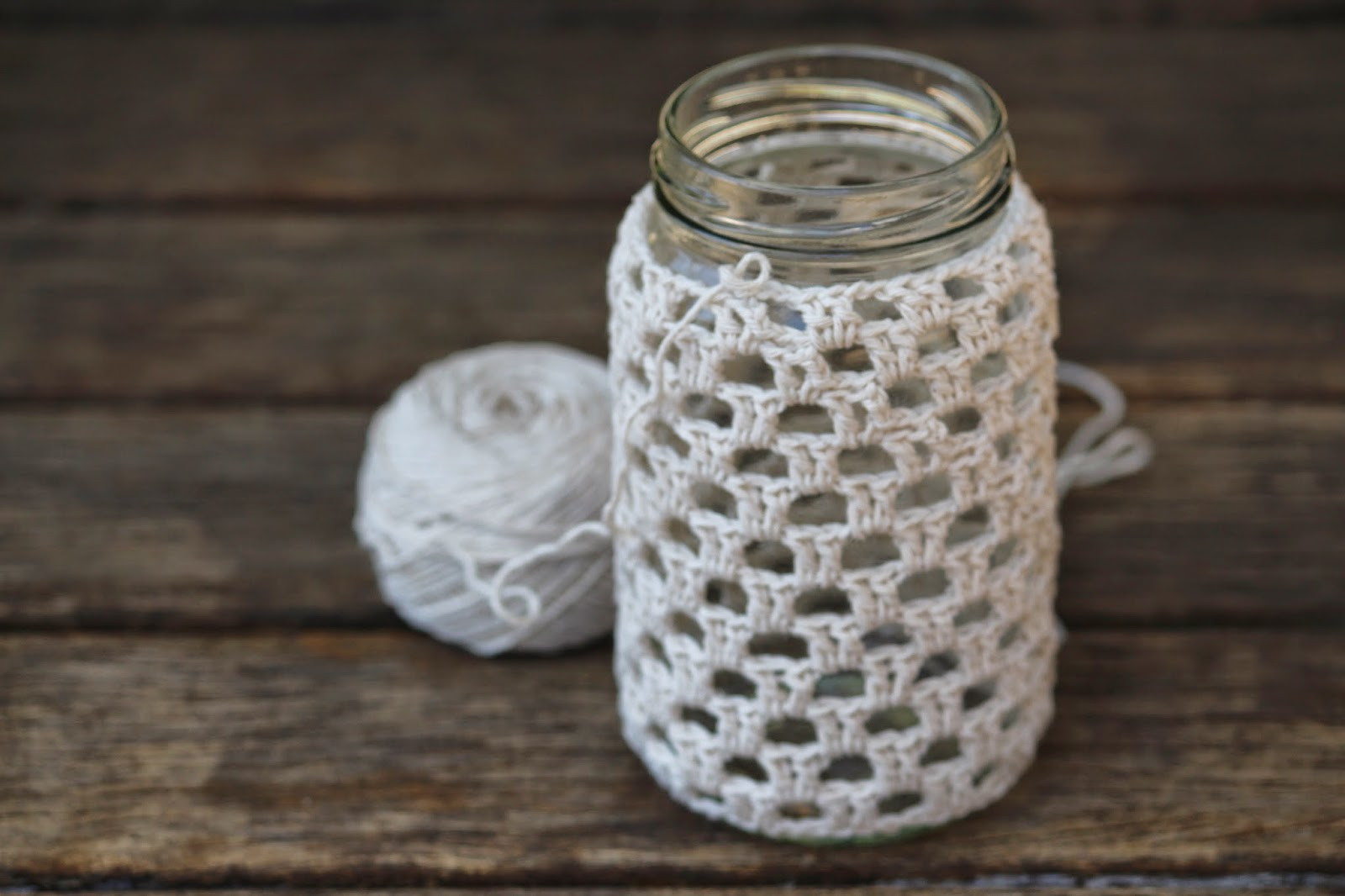 Crochet Patterns Jar Covers : ... of the initial Ch 2. Check the fit on your jar after every few rows