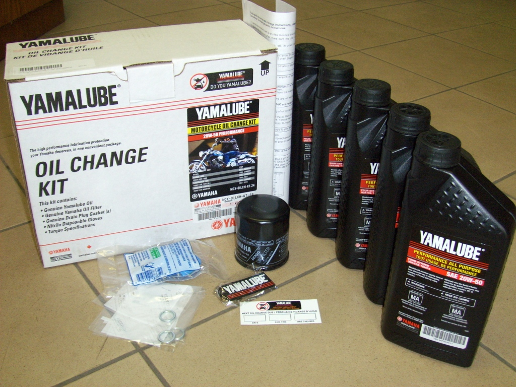 yamalube motorcycle oil change kit