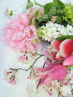 シルクフラワー(造花) シャクヤク&ヒヤシンス&チューリップ