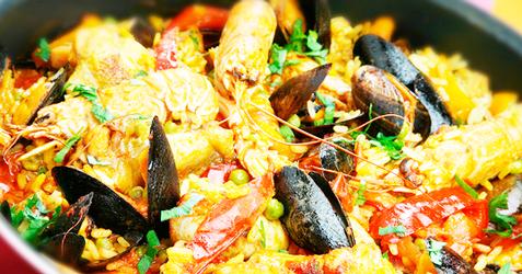 Paella de mar del plata recetas de cocina cocinar Cocinar ortigas de mar