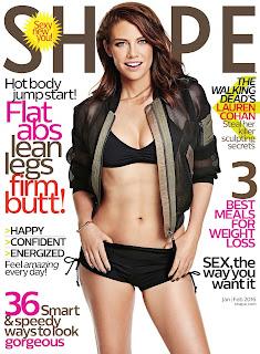 Lauren Cohan – Shape magazine January/February 2016 issue