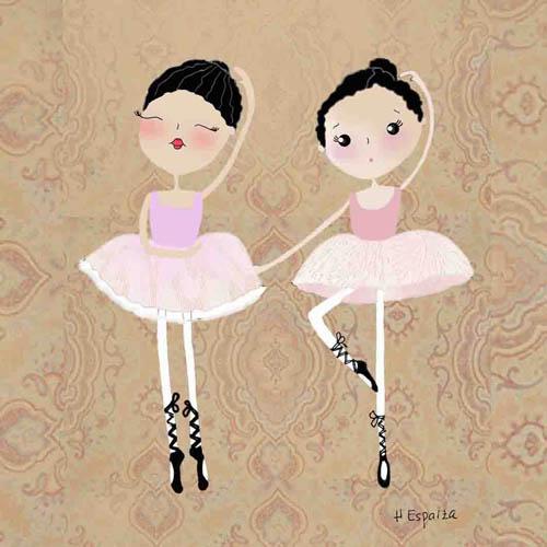 ilustracion dibujo bailarinas