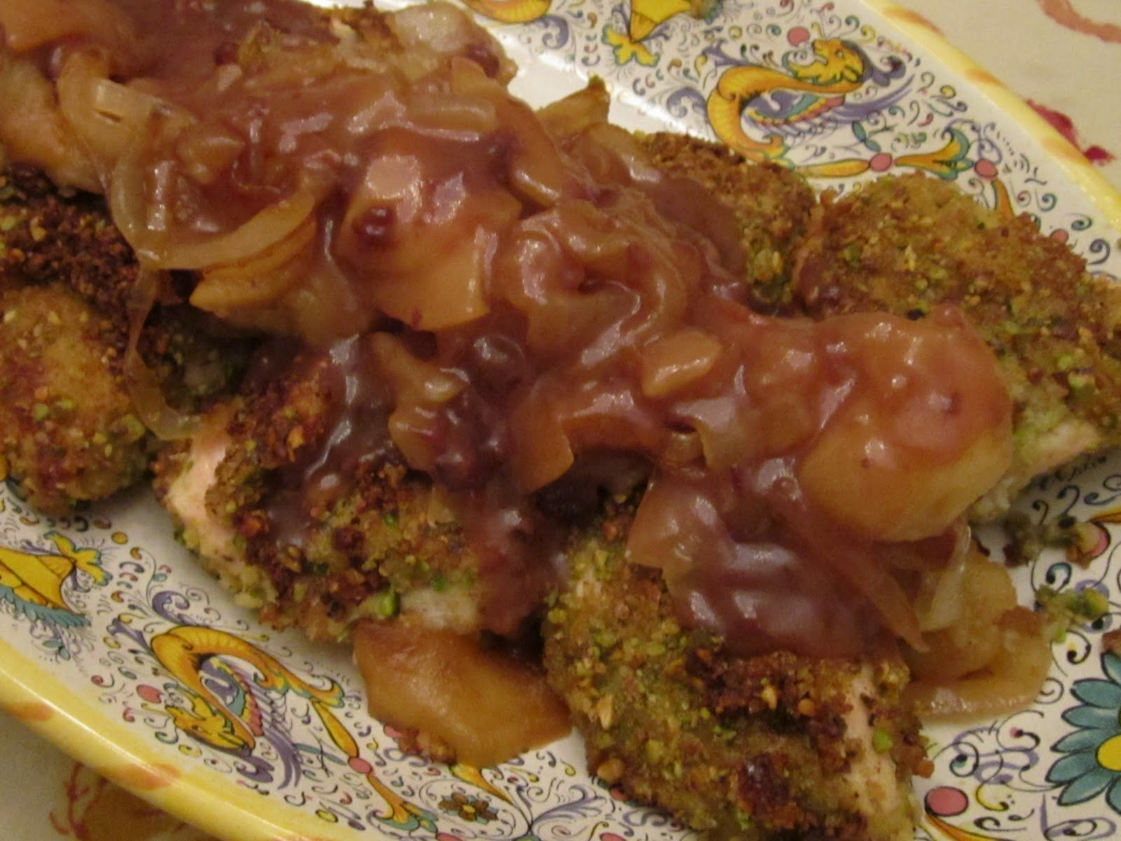 KnitOne,PearlOnion: Pistachio Encrusted Chicken