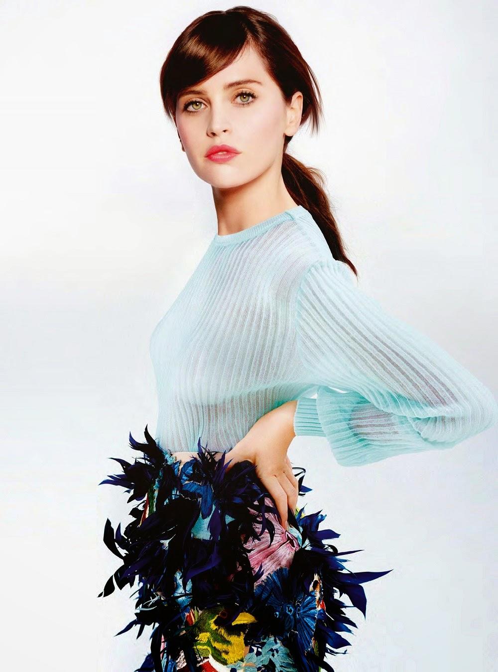 الممثلة الانكليزية فيليسيتي جونز  في صور لمجلة ينستيلي - مارس 2015