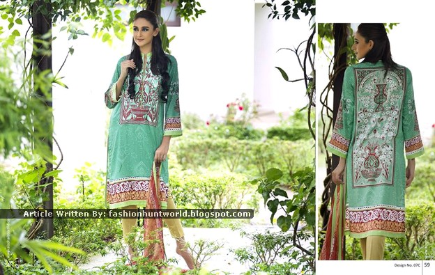 Al-Zohaib Textile - Anaya Embroidered Lawn Series 2015