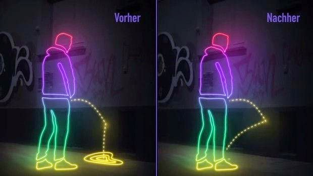 Funny And Creative Solution To Public Urination