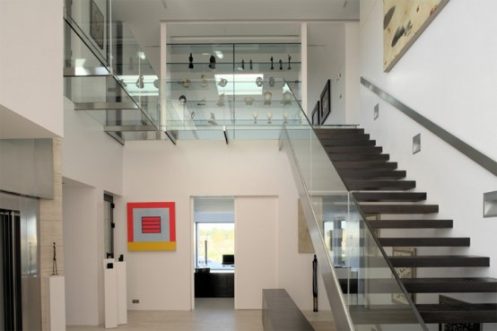 Top glass staircase designs