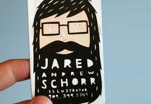 Cartões de visita criativos - Jared Andrew Schorr - Ilustração