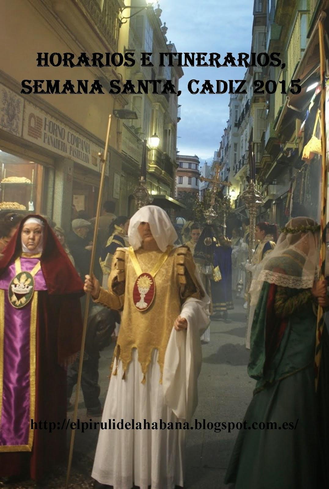 Horarios e itinerarios Semana Santa 2015
