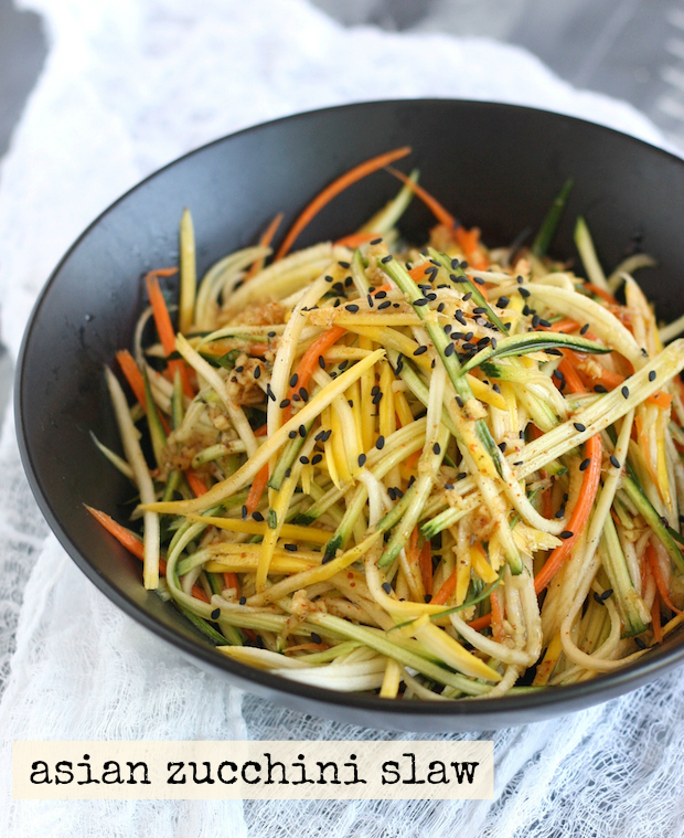 Zucchini Slaw with Japanese Seven Spice Vinaigrette by SeasonWithSpice.com