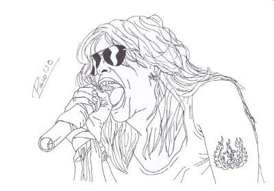 Desenho de Steven Tyler do Aerosmith