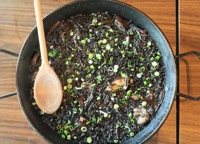 Milagro Spanish Restaurant - Arroz Negre (Squid Ink Paella)