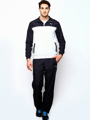 Buy Puma Men Navy and White Tracksuit on Flat 50% off at Myntra