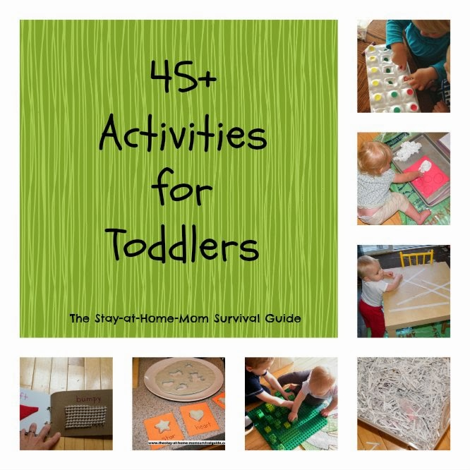 Toddler Activities to promote learning at The Stay-at-Home-Mom Survival Guide.