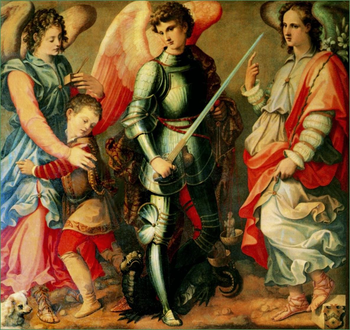 Arcanjos Miguel, Rafael e Gabriel