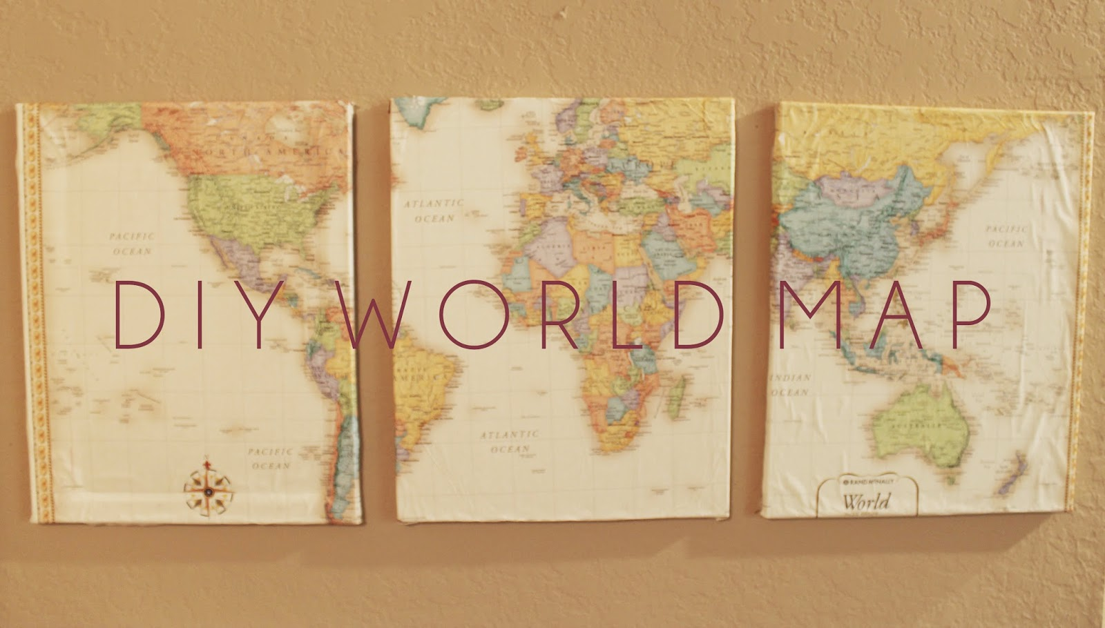 Map of the world hobby lobby map of the world hobby lobby 3 canvases i used the ones that come in gumiabroncs Choice Image