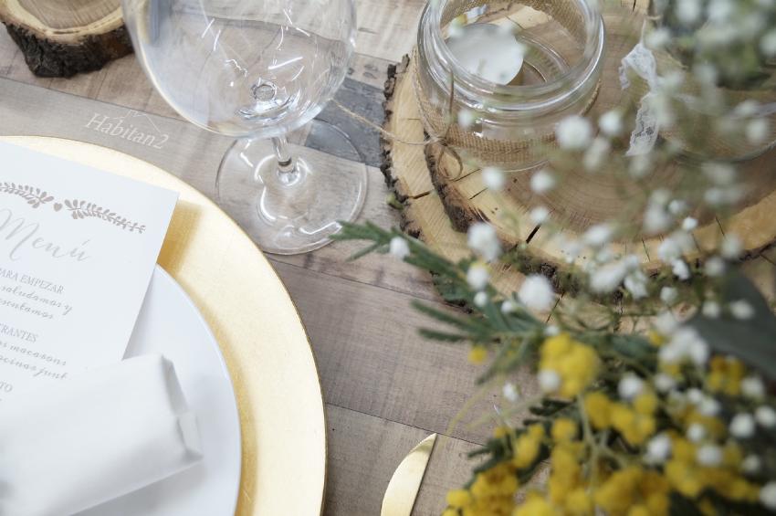 Decoración de mesa para boda by Habitan2