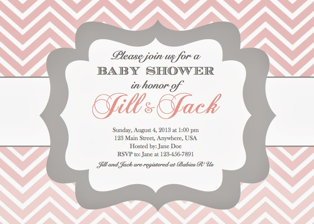 In the Chous Nest girl baby shower invitations