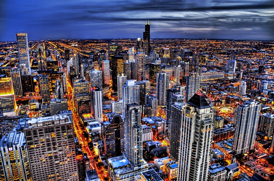 World Visit Chicago Skyline Usa