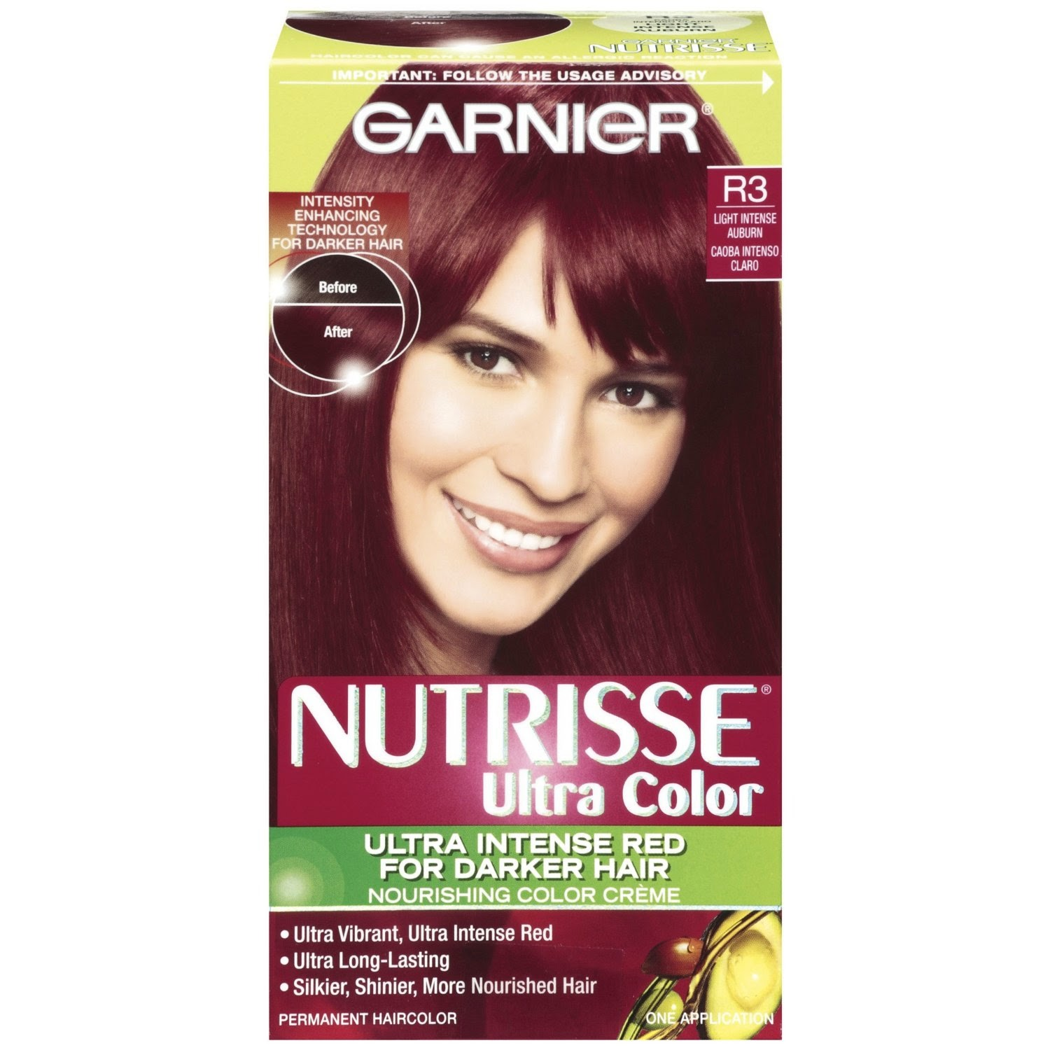 burgundy hair color 2014: Burgundy hair color (GARNIER) review 1