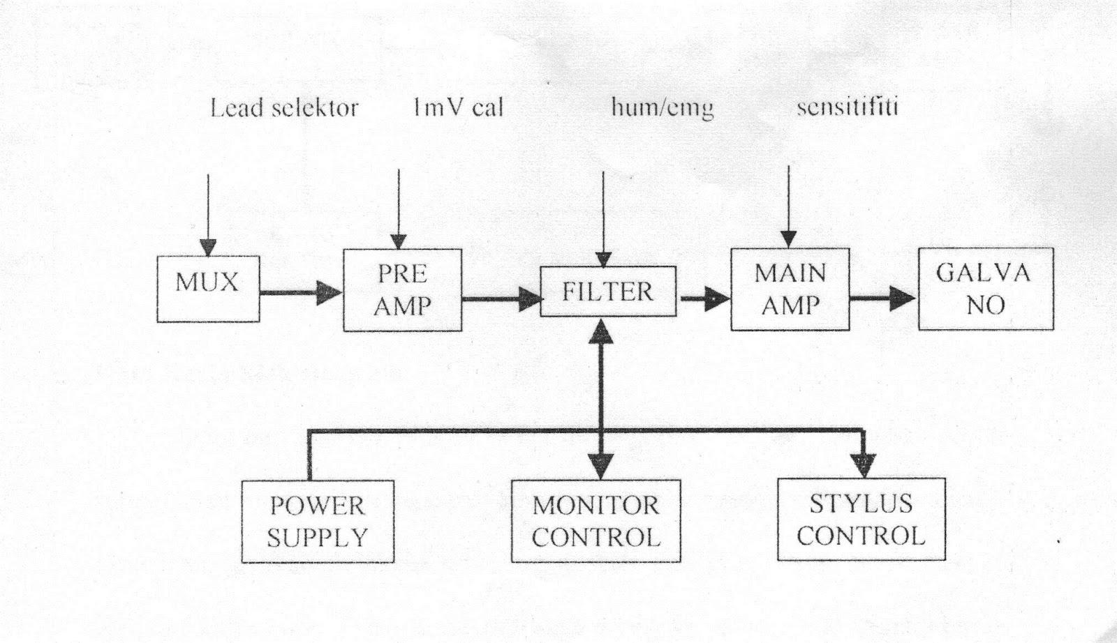 Cara Kerja Blok Diagram ECG Electrocardiogram