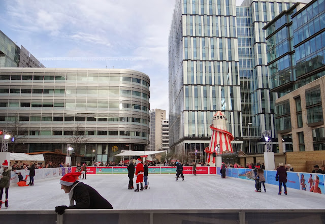 Manchester Spinningfields Outdoor Ice Rink, Skating with Santa, Christmas ice rink