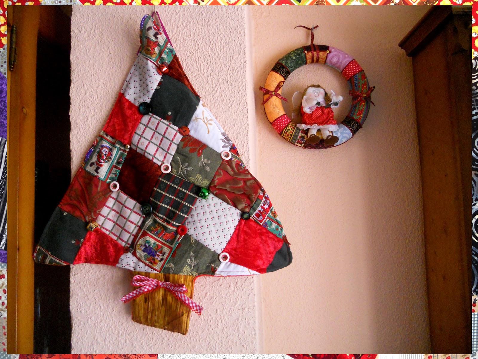 La trastienda de pris rbol de navidad y corona navide a - Adornos navidenos hechos en casa ...