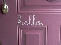 Vinyl hello sign for a quick front door makeover