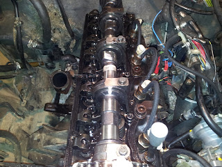Removed cylinder head valve cover