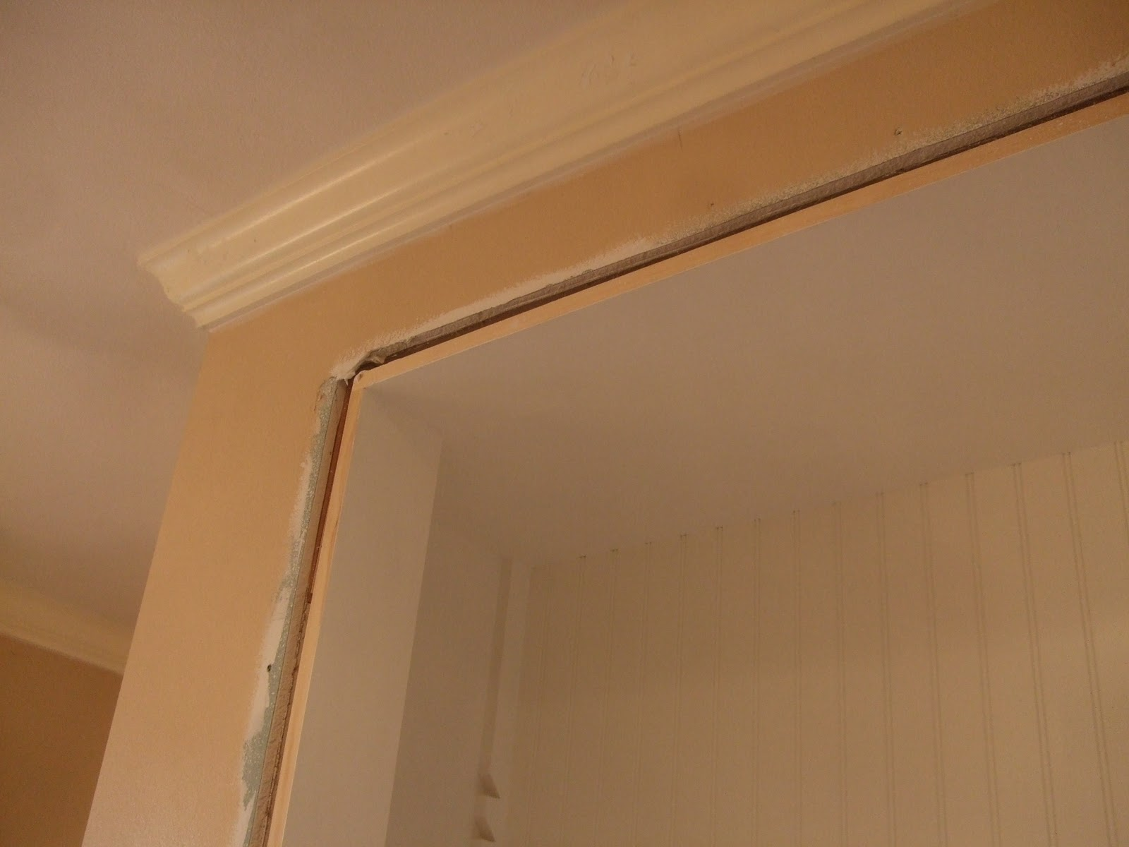 The Smiths Bathroom Crown Molding Up
