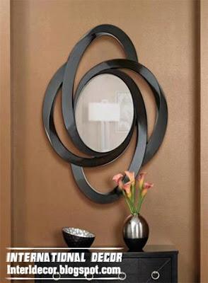 modern mirror frame, modern black mirror frame round