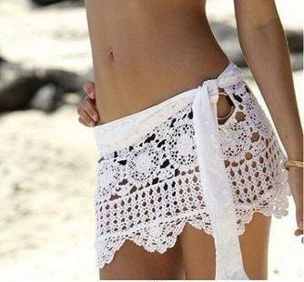 Mini-Falda salida de baño a Crochet