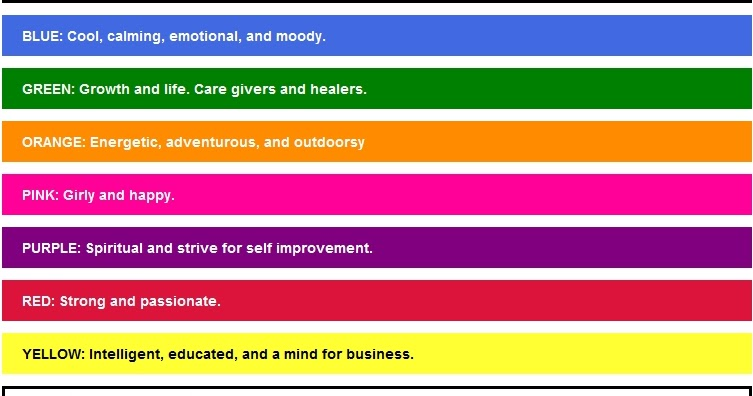 All About News Favorite Color Meanings