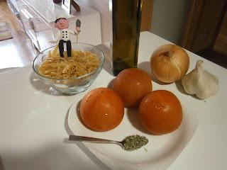 Macarrones al Pomodoro, con tomate fresco.