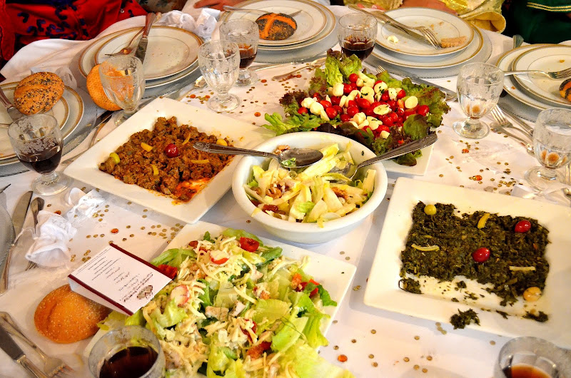 variety of moroccan food