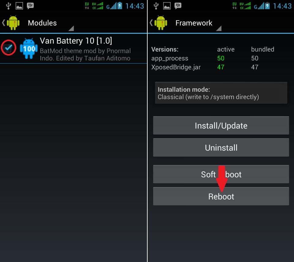 Mengganti Icon Baterai Android