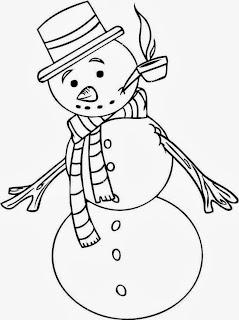 Dibujos de Muñecos de Nieve para Colorear, parte 3