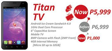 cherry mobile titan tv, cherry mobile